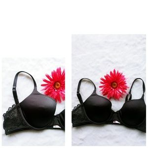 Victoria Secret Angels 36 B black plundge bra